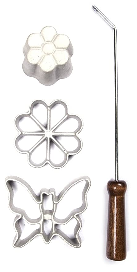 Amazon.com: Kitchen Supply 7143 Rosette Iron, Easter Egg: Cookie Cutters: Kitchen & Dining