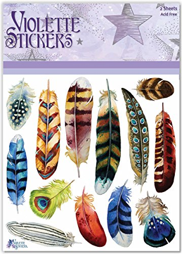 Violette Stickers Bold Feathers