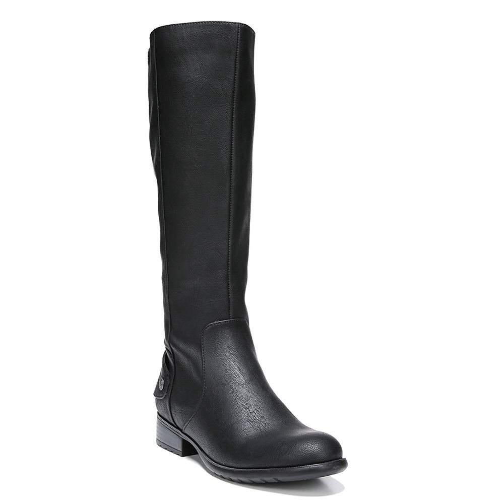 LifeStride Women's Xandywc Riding Boot- Wide Calf B01N48ROAF 7 B(M) US|Black-black