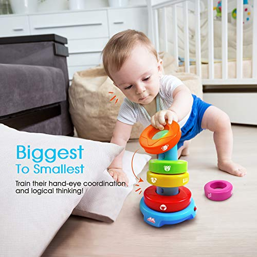 BEST LEARNING Stack & Learn – Educational Activity Toy for Infants Babies Toddlers for 6 Month and up – Ideal Baby Toy…