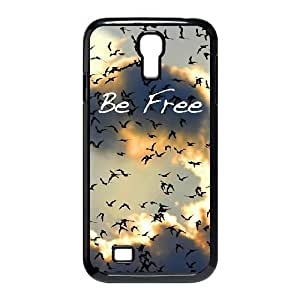 Sky Birds Be Free Samsung Galaxy S4 I9500 Durable Hard Plastic Case TPU Back Cover Fit Cases