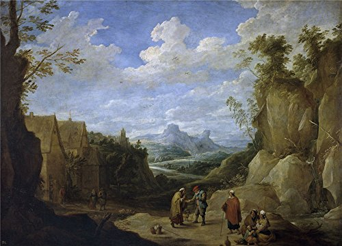 Oil Painting 'Teniers David Paisaje Con Gitanos 17 Century ' Printing On Perfect Effect Canvas , 18 X 25 Inch / 46 X 64 Cm ,the Best Foyer Gallery Art And Home Decoration And Gifts Is This Cheap But High Quality Art Decorative Art Decorative Canvas Prints