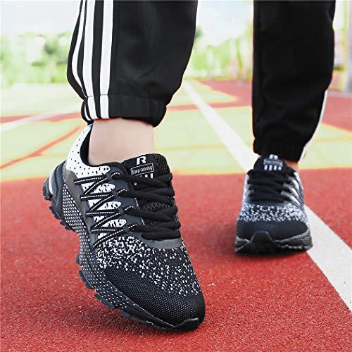 SOLLOMENSI Chaussures de Sport Running Basket Homme Femme Course Trail Entraînement Fitness Tennis Respirantes 5