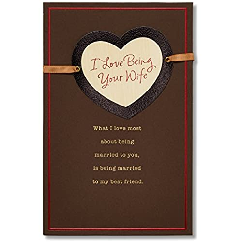 Love Being Your Wife Sentimental Valentine's Day Card for Husband with Ribbon Sales