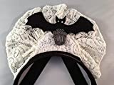 Disney Parks Haunted Mansion Ghost Hostess Maid Halloween Costume Lace Headband