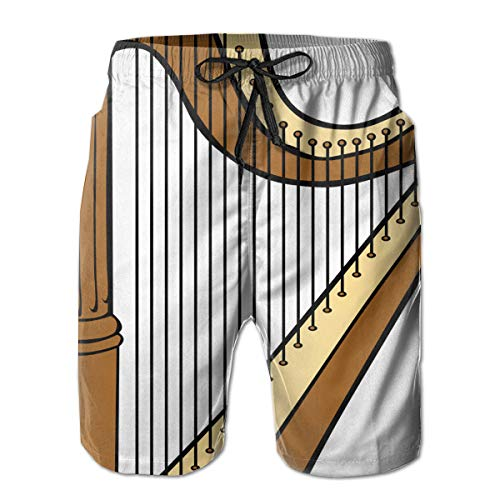 Men's Shorts Pockets Swim Beach Trunk Summer Harp Fit ()