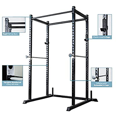 Rep Power Rack – PR-1000 – Dual Pullup Bars, Numbered Uprights, 700 lb Rated, and Optional Upgrades