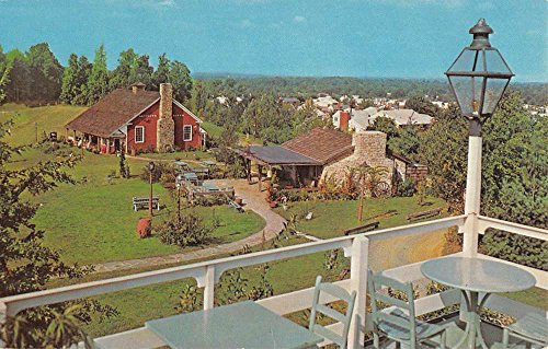 View Birdseye Postcard (McLean Virginia Evans Farm Inn Birdseye View Vintage Postcard K92839)