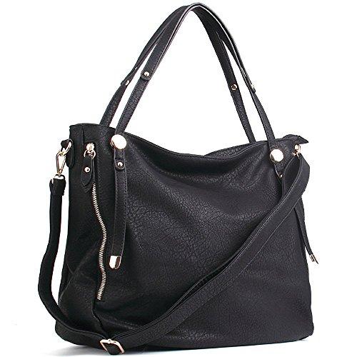 Black Satchel Handbag - 5