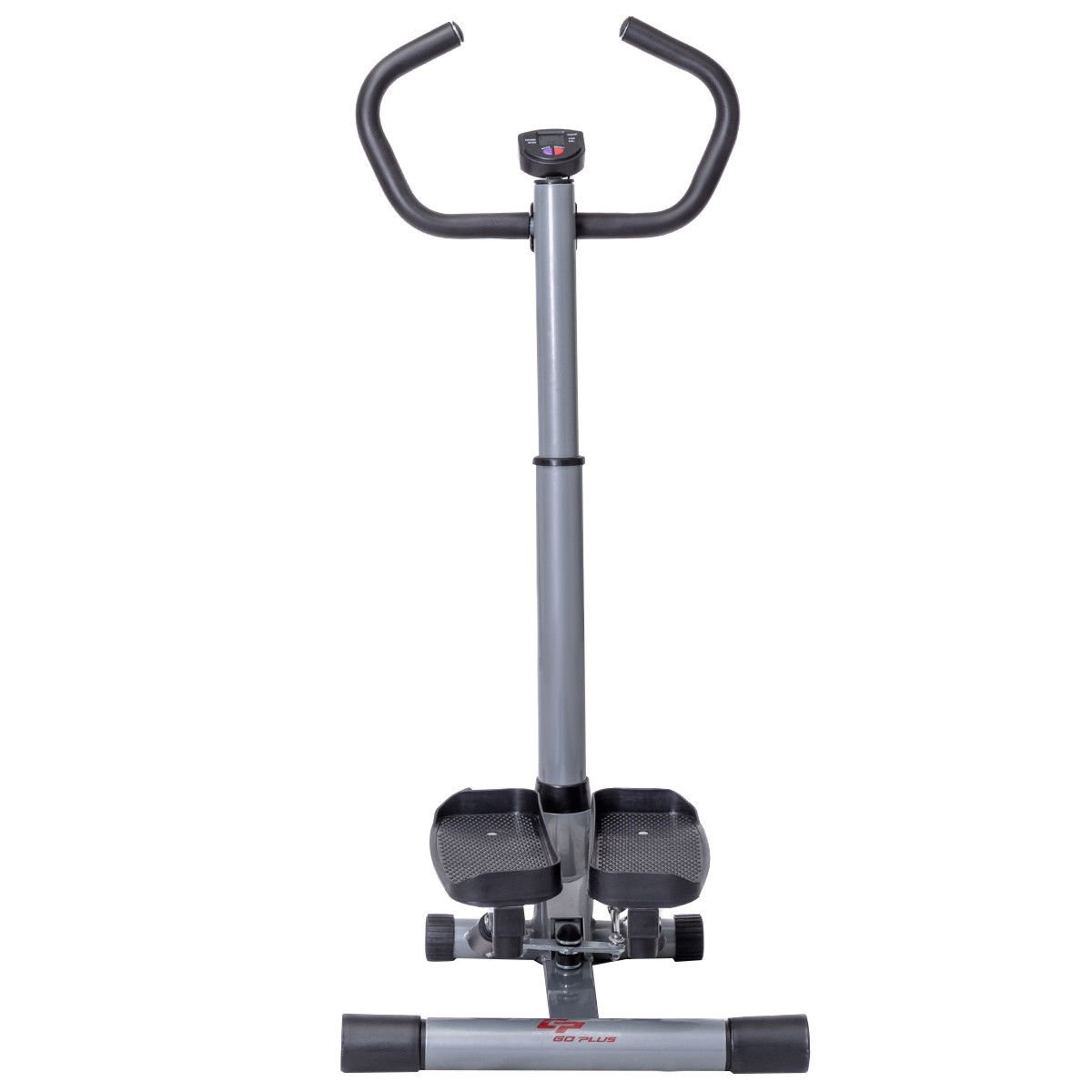 Goplus Stair Stepper Twister 2 in 1 Step Machine Fitness Exercise Workout with Handle Bar and LCD Display Cardio Trainer Stair Climber by Goplus (Image #1)