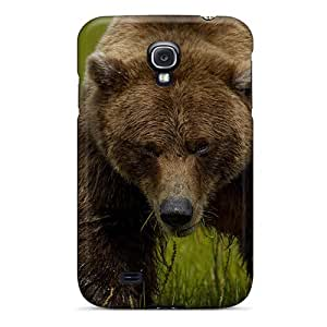 JUST-cases Fashion Protective Bear Grass Case Cover For Galaxy S4