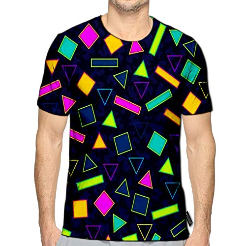 T-Shirt 3D Printed Retro Vintage 80S Memphis Fashion Style Idealde Casual Tees c