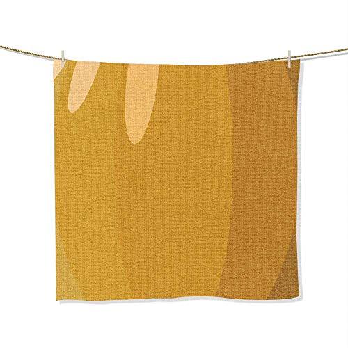 FootMarkhome Print Soft Large Decorative Hand Towels Pumpkin Skin Vector Illustration Halloween Background or Wallpaper Multipurpose for Bathroom, Size:19.7