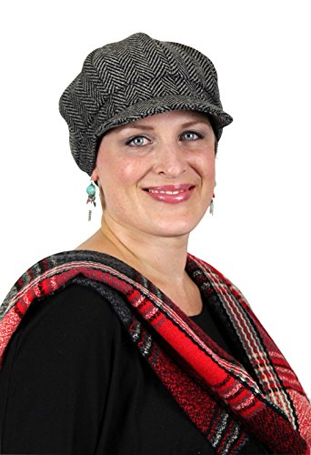 Canterbury Tweed Newsboy Cap for Chemo & Cancer Patients