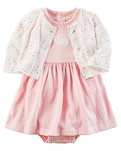 Carter's Baby Girls Dress Set, Pink/Rabbit, 24M