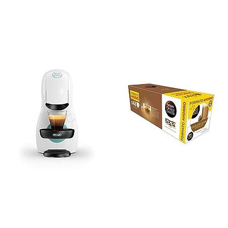 Pack DeLonghi Dolce Gusto Piccolo XS EDG210.W - Cafetera de cápsulas, 15 bares de presión, color blanco + 3 packs de café Dolce Gusto Con Leche