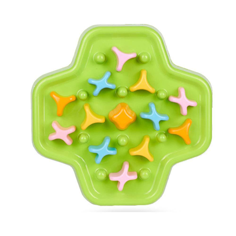 Dog Maze Bowls, Pet Fun Feeder, Slow Food Bowl, Green Health Pots Non-Slip Puzzle 33.5  33.5  4cm