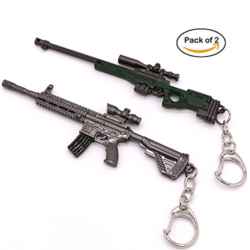 New Sniper Rifles - Gun Keychain Sniper and Rifle Shooting Gun Key Chain Bag Charm Pendant for Men Metal Weapon Gun Shaped Keychain Keyring for Men and Boys