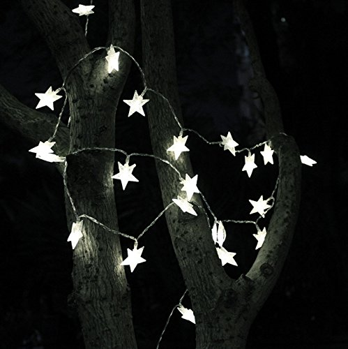 TINNZTES 4m/13ft 40 LED Star Light Fairy String Light for Hotel Home Weddings Family School Party (Cool White)