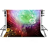 Music Stage Backdrop Music Sound Photography Backdrops MEETSIOY 10x7ft Themed Party Photo Booth YouTube Backdrop LXMT1176