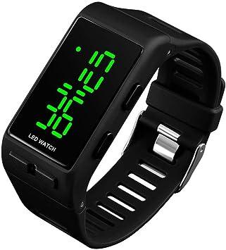 Relojes Digitales para Hombres Mujeres, 3 ATM Reloj Deportivo Digital a Prueba de Agua con Alarma para Adolescentes Niños Chicas, LED Reloj de Pulsera electrónico Unisex Negro Exteriores: Amazon.es: Deportes y aire