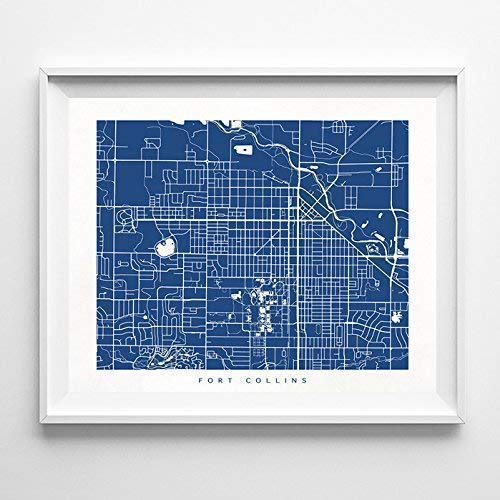 Colorado Watercolor Map Wall Art Home Decor Poster Artwork Gift Print UNFRAMED