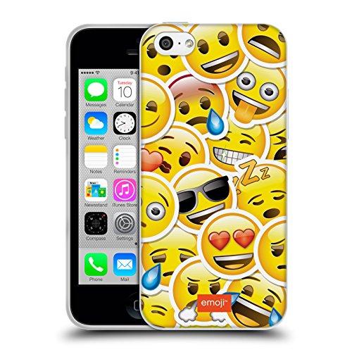 Officiel Emoji Autocollant Smileys Étui Coque en Gel molle pour Apple iPhone 5c