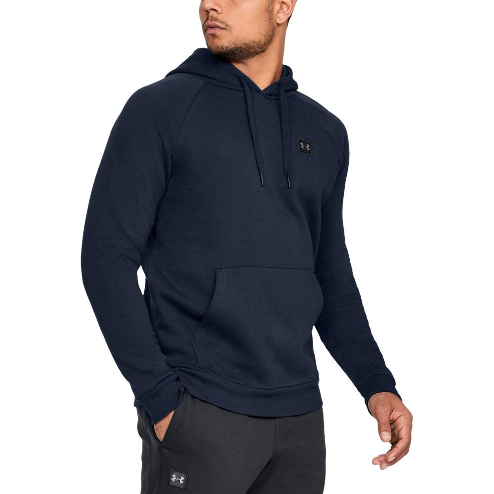Under Armour Men's Rival Fleece Hoodie, Academy (408)/Black, 4X-Large by Under Armour (Image #1)