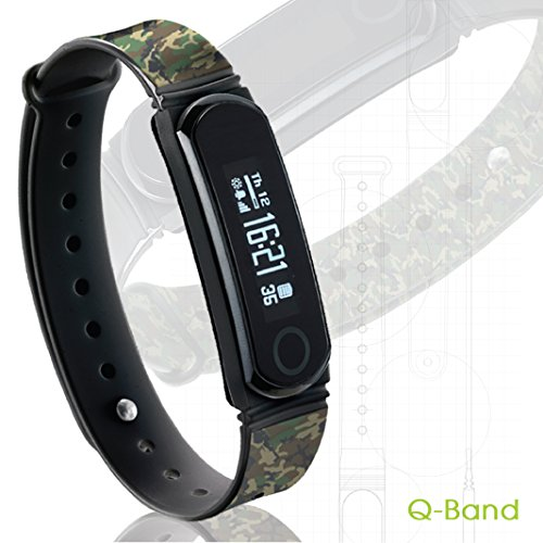 Q-Band EX Fitness Tracker - Q66, Watch, Activity, Steps, Fitness, Calories & Sleep Tracker Wristband - Wireless Bluetooth Synchronization with iPhone & Android Devices - Durable Battery - OLED Display