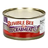 Bumble Bee Lump Crabmeat, 6-Ounce Cans (Pack of 6)