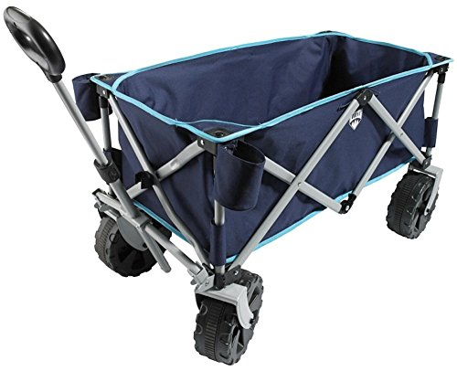 Folding Utility Beach Wagon - Multicolors (Navy/Light Blue)
