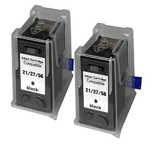 2 Cartuchos 56 Xl Preto Compatível Hp 100% Novo Psc 1210 5550 7760 2400