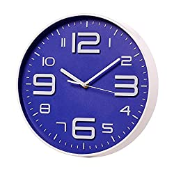 Modern Wall Clock Big 3D Number Silent Non-Ticking Quartz Decorative Battery Operated Large Clock for Living Room 12 Inch