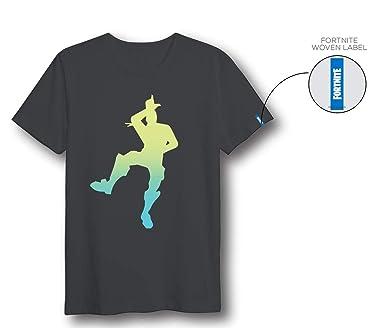 Fortnite Black Logo - Camiseta, color gris oscuro, talla S