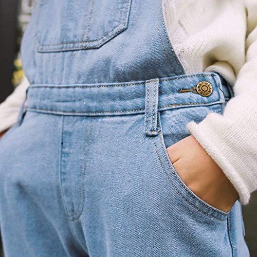 Pantalones Mono Hellblau De Peto Aire Libre Battercake Con Mujeres Casuales Al Delanteros Capucha Holgados Mujer Pantalón Vaqueros Bolsos fdOwTwzq1Z