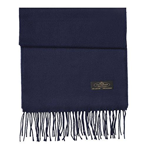 - FHC Enterprize 100% Cashmere Ladies and Mens Scarves (Navy)