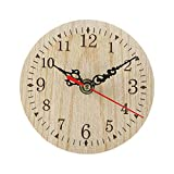magnificent fireplace mantel decoration  Vintage Rustic Wooden Wall Clock, Antique Retro Clock for Home Kitchen Room Decor