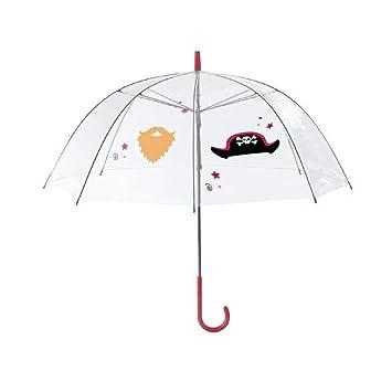 Paraguas para niños transparente con diseños impresos para realizar selfiesKamiustore., Pirata
