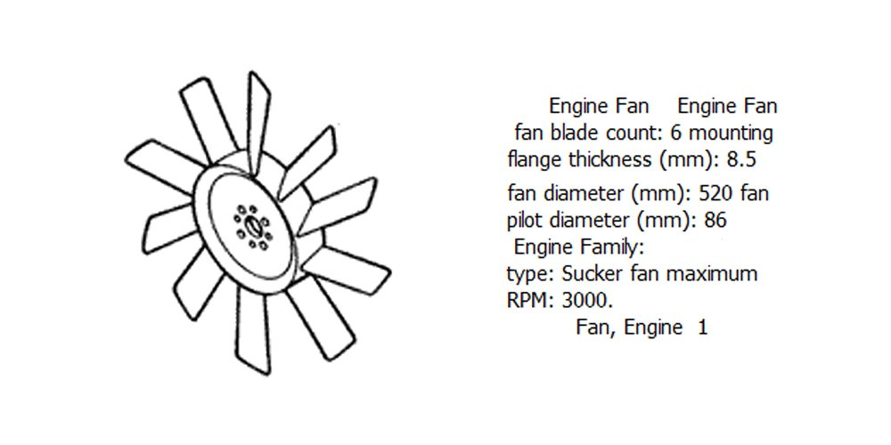 Engine fan 4931780 for diesel engine DCEC