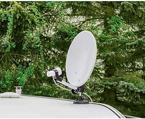 Megasat 1500080 - Antena (35 cm, Negro, Color Blanco, 410 x 500 x 120 mm)