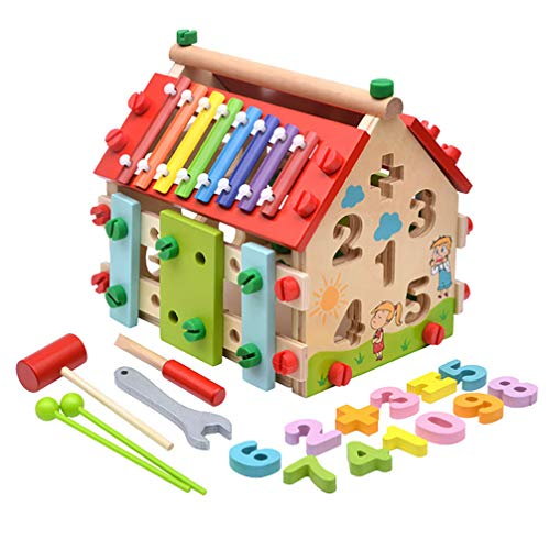 RYSD-MT Toddler Disassemble Toys-Game House-Digital Fill/Education/Percussion Musical/Knocking Toys Learning Multi-Purpose Toys Set for 36 Months+ Infant Kids Toddlers