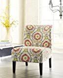 Fresh twist on style. Breathe new life into your space with the delightfully vibrant Honnally accent chair. Abstract medallion pattern charms with a touch of whimsy and ever-so-subtle Bohemian-chic flair.