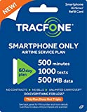#9: Tracfone Smartphone Only Airtime Service Card - 500 Minutes - 1000 Texts - 500 mb data