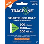 Tracfone Smartphone Plan / 60 Days, Minutes, Texts, 500mb Data 500 1000