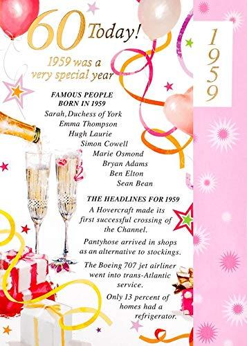 Simon Elvin 2019 60th Female Birthday Card