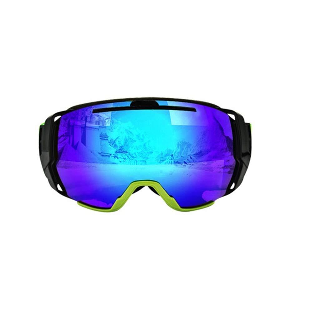 YHLL Skibrille, Erwachsene Männer Und Frauen Skibrille Doppelte Anti-Fog Verstärkte Gläser Bunte Rahmen Skibrille B07LF8JHD7 Skibrillen Überlegene Qualität