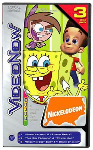 VideoNow Color 3 Disc Pack - Nickelodeon's Fairly Odd Parents, Jimmy Neutron and SpongeBob SquarePants