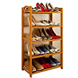 Bamboo shoe rack,100% solid wood ,Flower stand, Bookshelf,Function assemble,Entryway shelf Stand shelves Stackable Entryway bedroom-D 50x25x87cm(20x10x34inch)