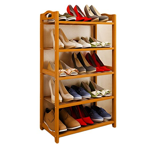 Bamboo shoe rack,100% solid wood ,Flower stand, Bookshelf,Function assemble,Entryway shelf Stand shelves Stackable Entryway bedroom-D 50x25x87cm(20x10x34inch) by franchise house (Image #7)'