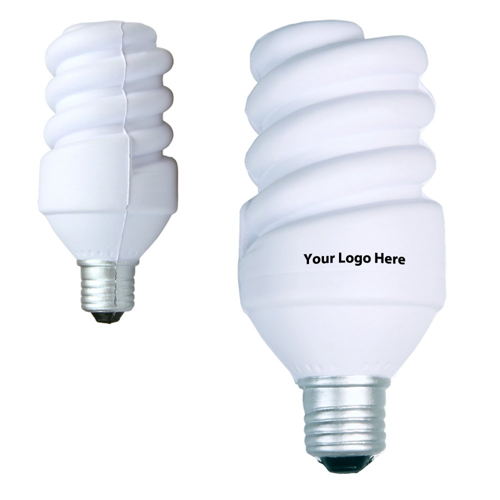 Eco Light Bulb Stress Reliever - 150 Quantity - $2.25 Each - PROMOTIONAL PRODUCT / BULK / BRANDED with YOUR LOGO / CUSTOMIZED